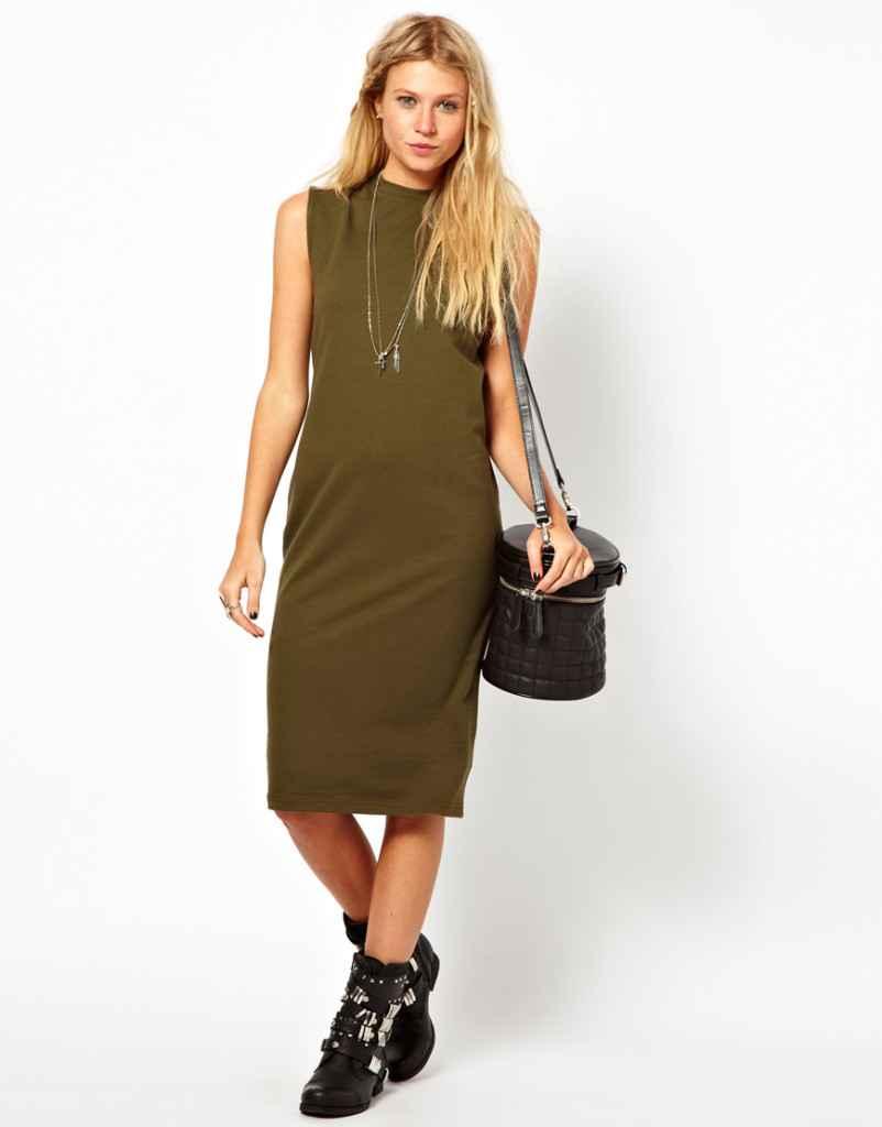 Diz Altı Elbise Modelleri