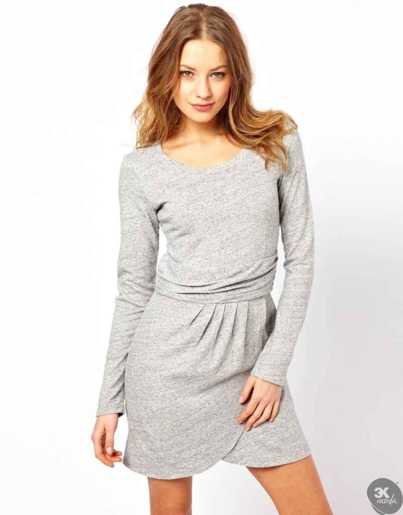 uzun kollu elbise 1 802x1024 Uzun kollu elbise modelleri