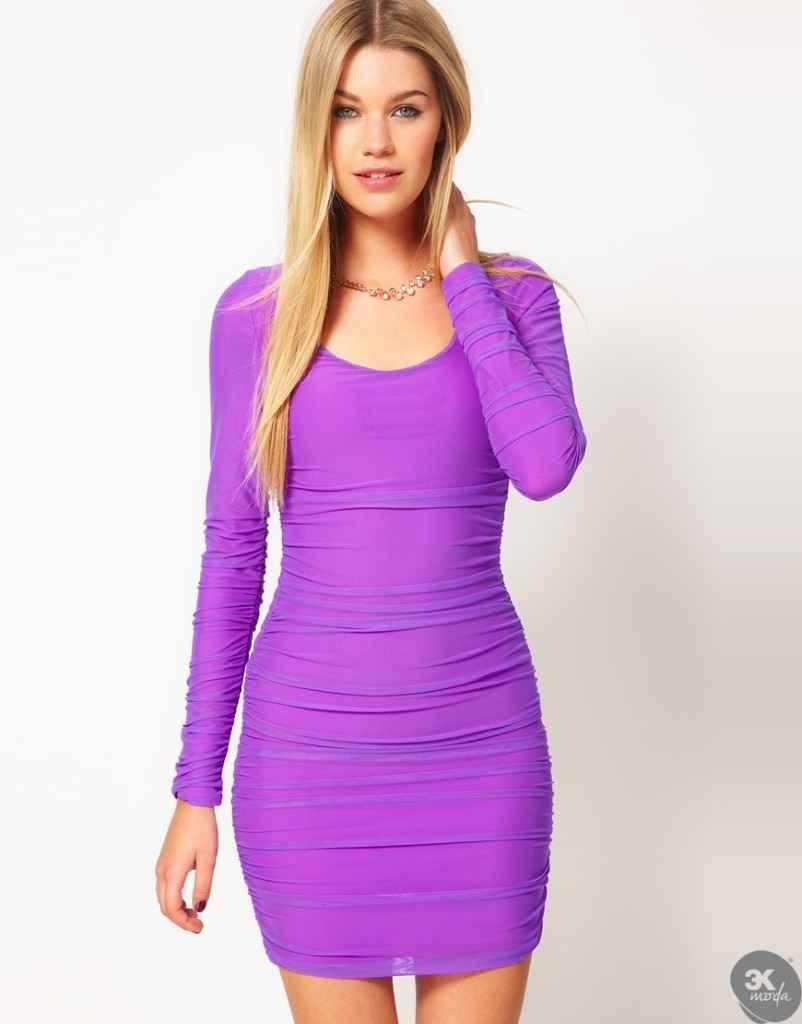 uzun kollu elbise 11 802x1024 Uzun kollu elbise modelleri