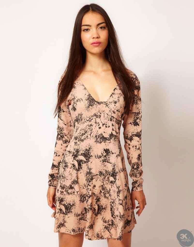 uzun kollu elbise 13 802x1024 Uzun kollu elbise modelleri
