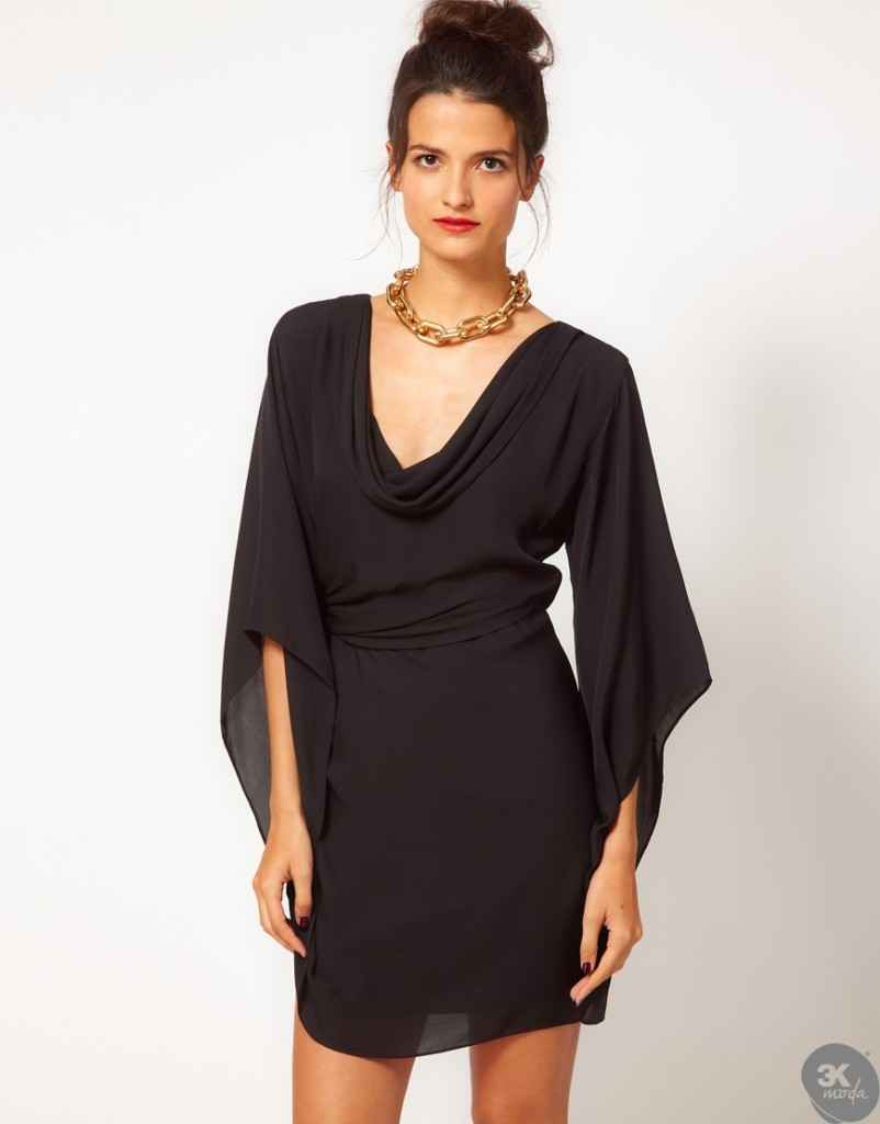 uzun kollu elbise 14 802x1024 Uzun kollu elbise modelleri