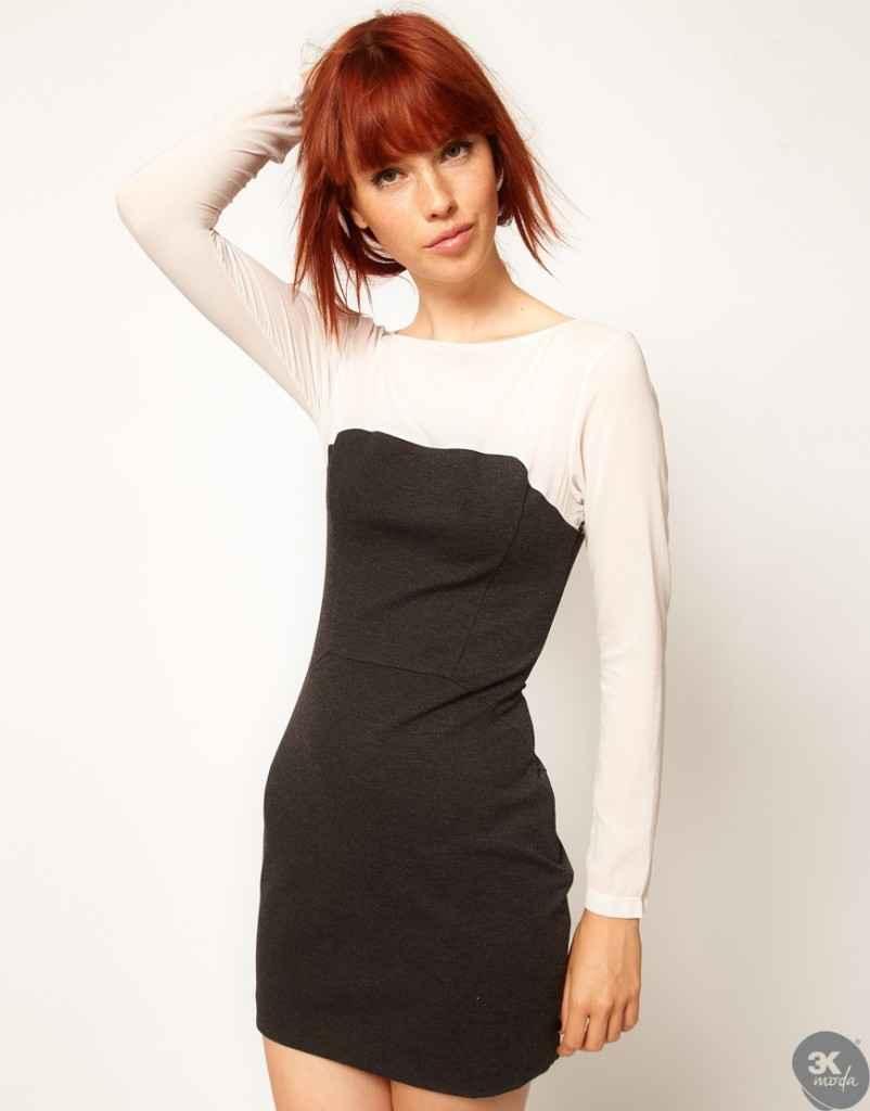 uzun kollu elbise 19 802x1024 Uzun kollu elbise modelleri