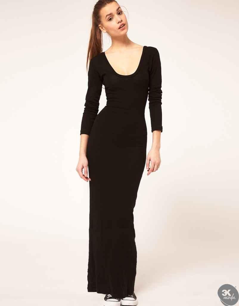 uzun kollu elbise 22 802x1024 Uzun kollu elbise modelleri
