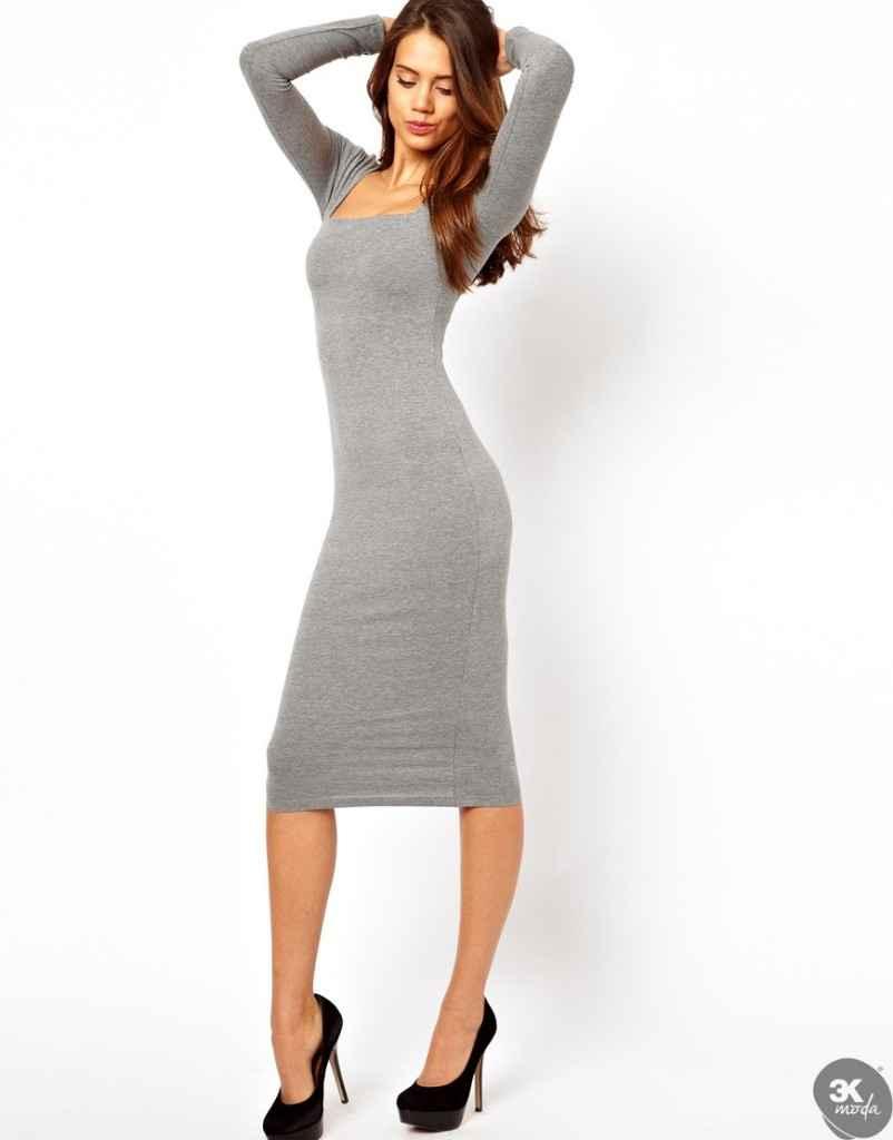 uzun kollu elbise 26 802x1024 Uzun kollu elbise modelleri