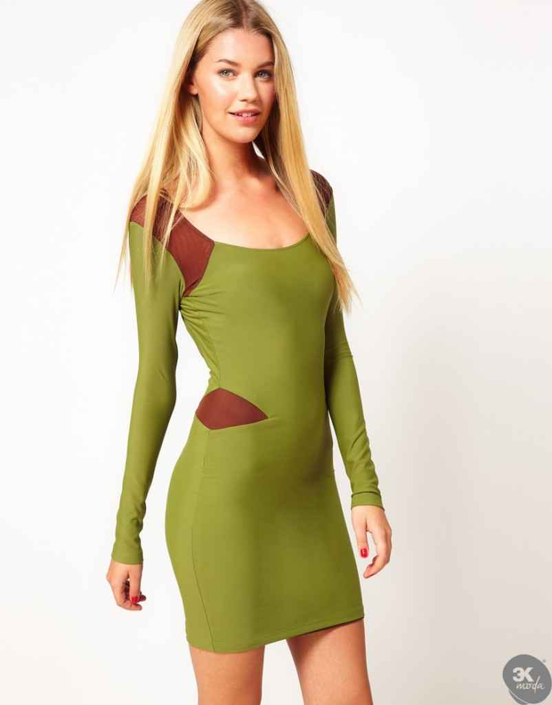 uzun kollu elbise 3 802x1024 Uzun kollu elbise modelleri