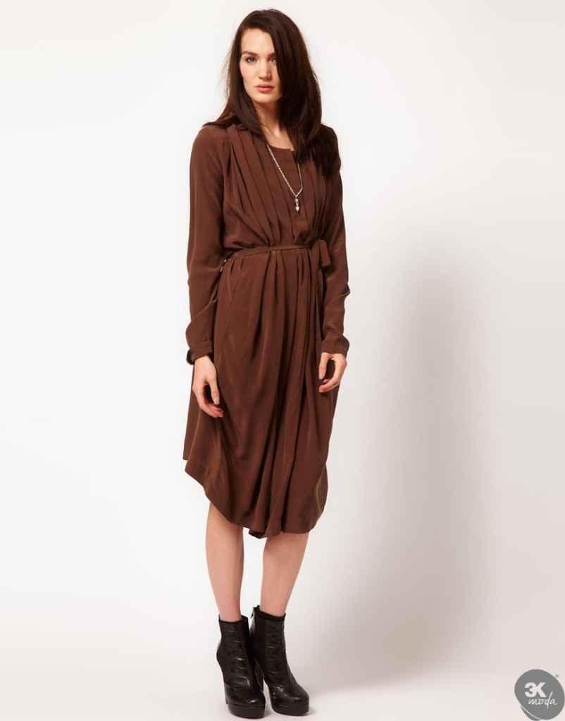 uzun kollu elbise 4 802x1024 Uzun kollu elbise modelleri