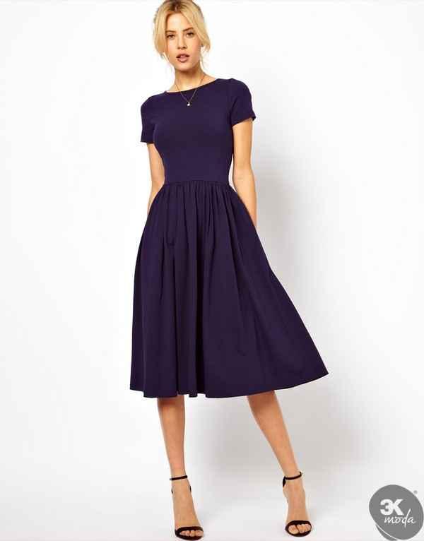 K sa kollu elbise modelleri 3k moda diyet tad nda for Cute dresses to wear to a wedding in the winter