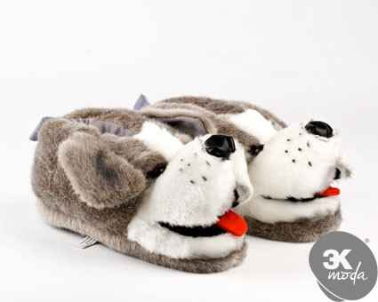 Black Dog Slippers