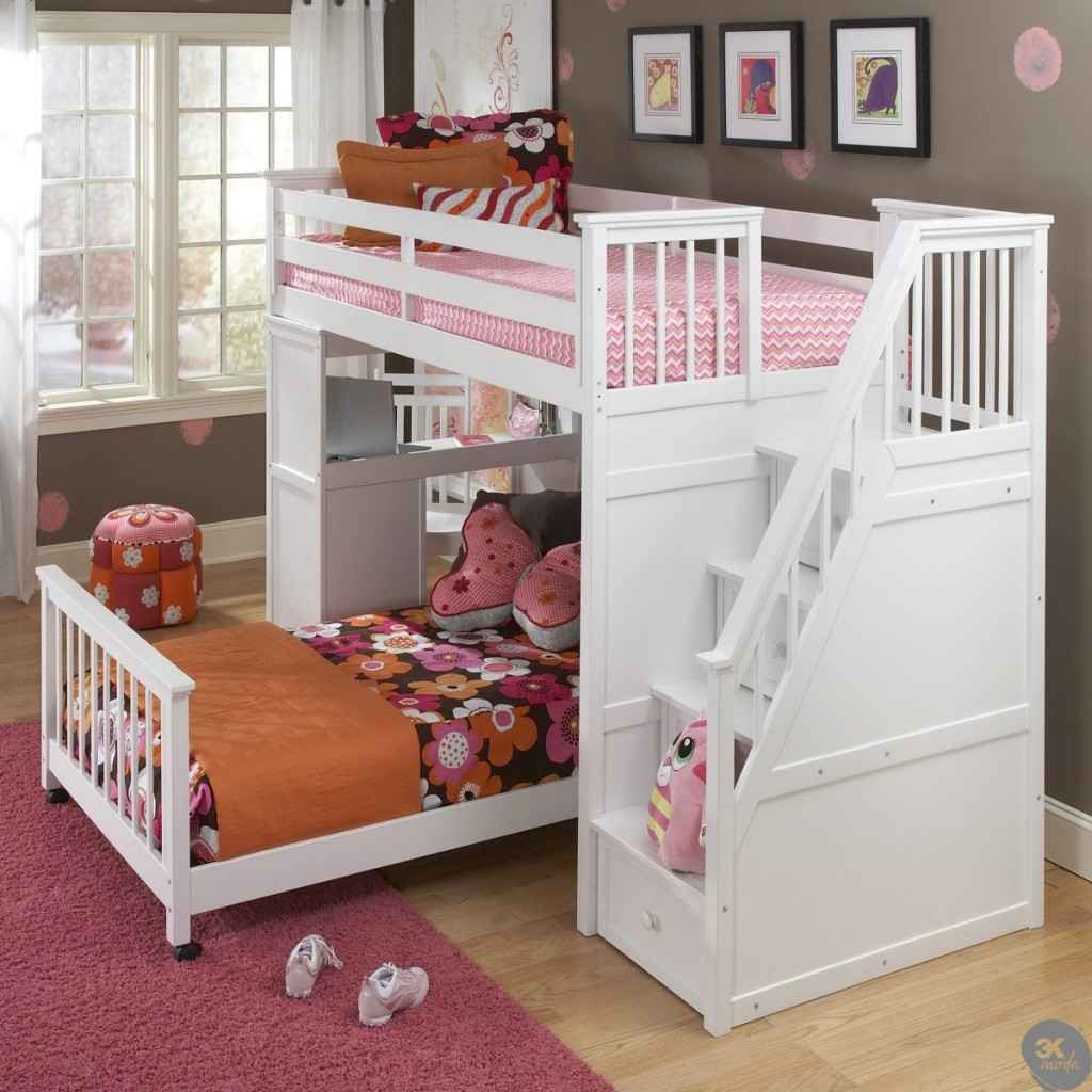 Kids Loft Bed with Stairs 1024 x 1024