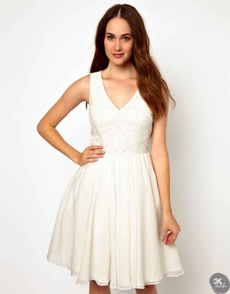 V Yaka Elbise Modelleri