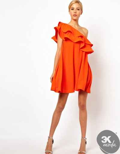 Fırfırlı Elbise Modelleri