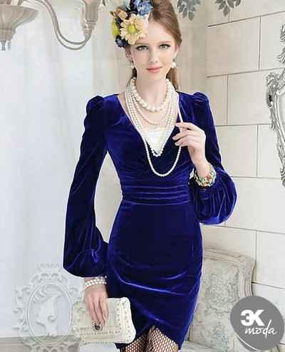 Kadife 2014 Elbise Modelleri