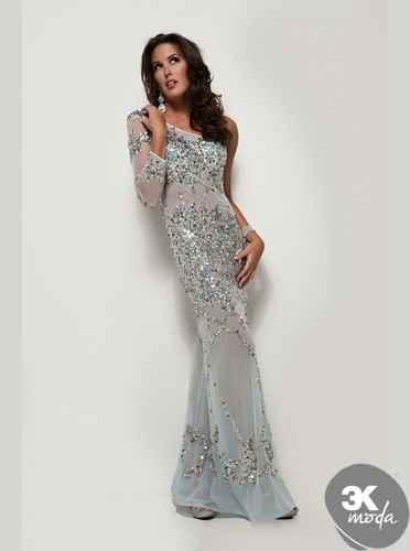 2c12a4c5125cc Uzun Kollu Abiye Elbise Modelleri 2014 | 3K Moda