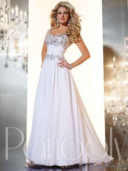 4f0349fe369b6 Beyaz Abiye Elbise Modelleri 2014 | 3K Moda