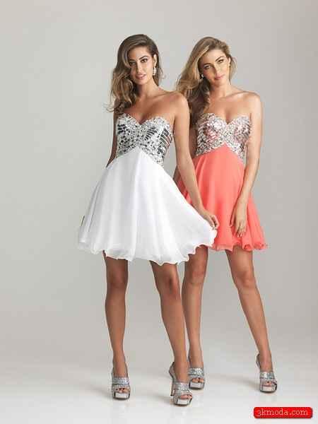 Beyaz Yazlık Mini Abiye Modelleri