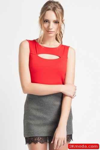 Kırmızı Yazlık Tişört Modelleri