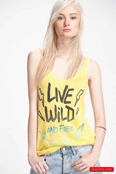 Sarı Yazlık Bayan Tişört Modelleri