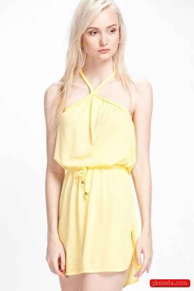 Sarı Yazlık Mini Abiye Modelleri