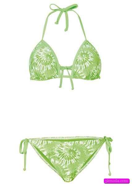 Zümrüt Yeşili Bikini Modelleri