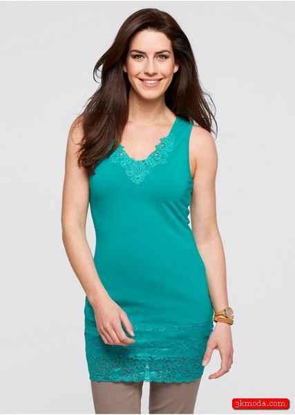 Zümrüt Yeşili Yazlık Bluz Modelleri