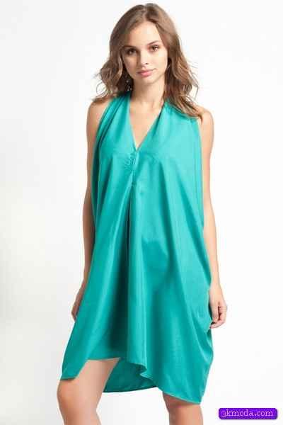 Zümrüt Yeşili Yazlık Düğün Elbise Modelleri