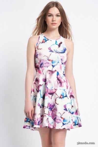 Baskılı Elbise Modelleri 2015
