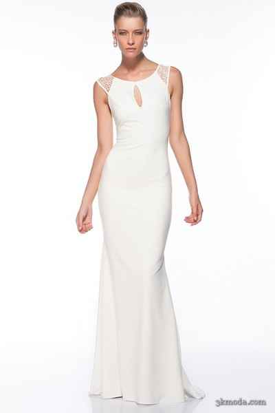 Beyaz abiye elbise modelleri