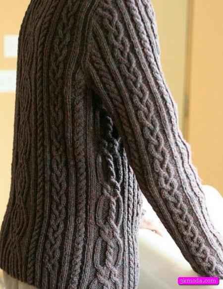 Saç örgüsü bayan kazak modelleri