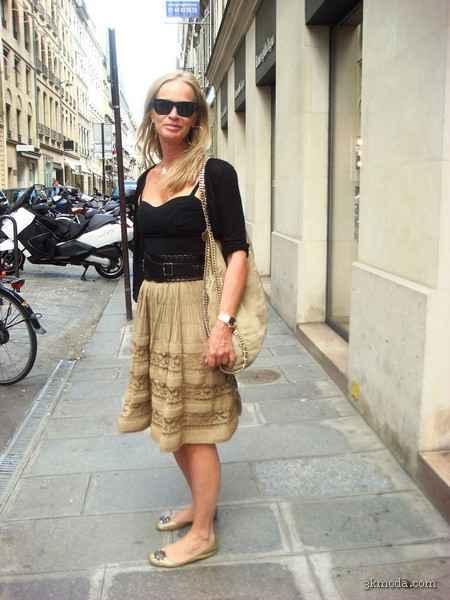 Paris modasında göz alıcı kareler