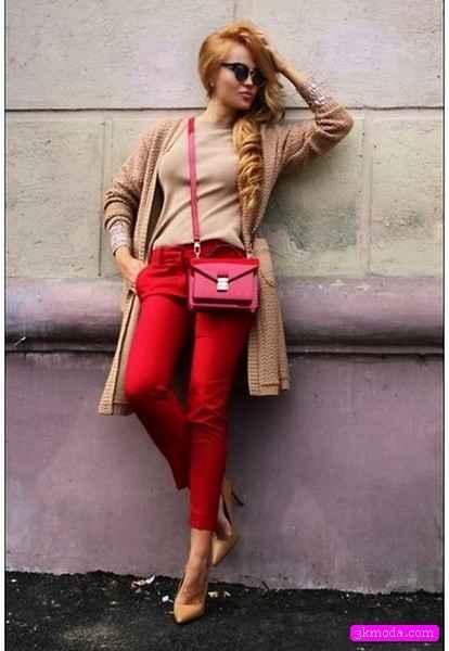 Sokak modası pantolon kombinleri 2015