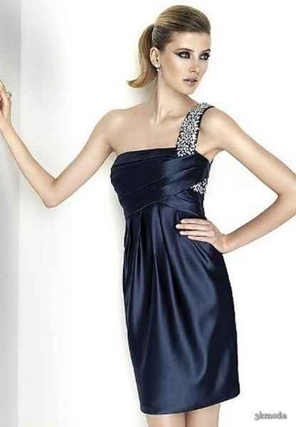 03882750e048a Tek omuzlu ve taşlı abiye elbise modelleri Photo Gallery. com com