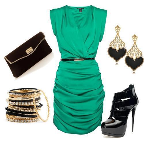 efad68aed9384 Yeşil Abiye Elbise Kombinleri yeşil abiye modelleri zümrüt yeşili …