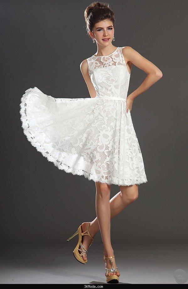 Beyaz abiye elbise modelleri 2016