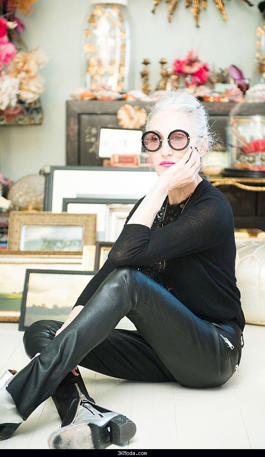 66 yaşındaki eski model ve stilist Linda Rodin