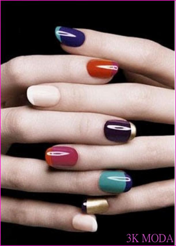Renkli Fransız Manikürü - ladamapalida - Blogcu.com