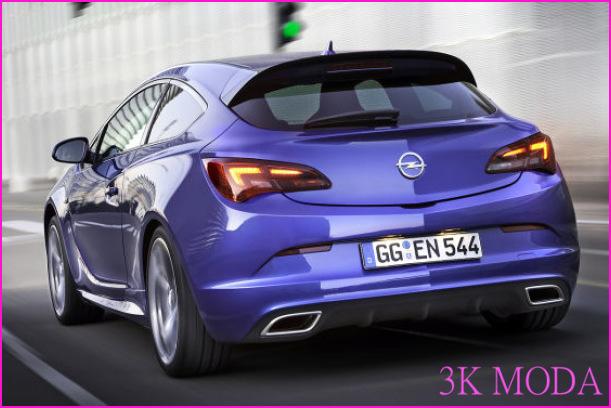 Opel Astra OPC blau Heckansicht © autobild.de