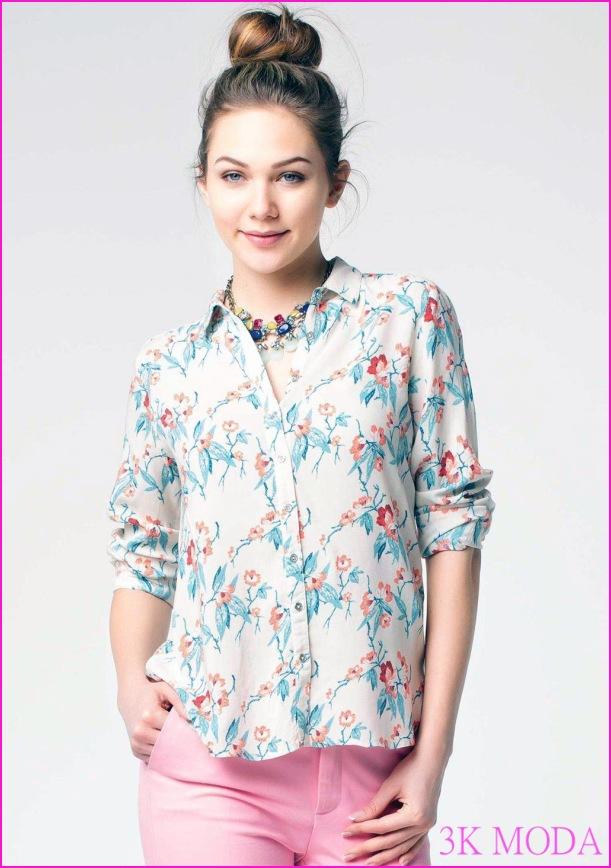 aba9ad9a97c46 defacto ilkbahar yaz cicekli gomlek modeli – Trendstilim 2016 defacto elbise  ...