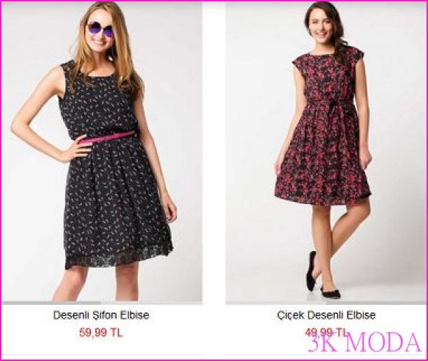 DeFacto ilkbahar yaz elbise modelleri ve Fiyatları 2016