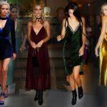 kadife elbise modelleri trend dokular