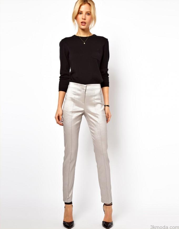 bayan kumas pantolon kombinleri 2