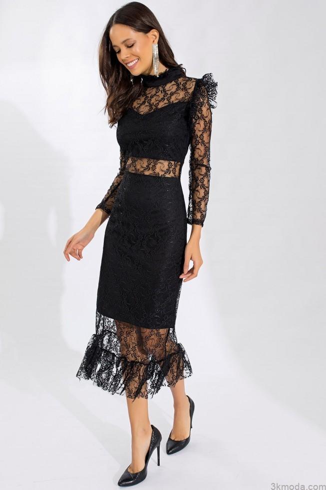 trend alarm transparan elbise modelleri 2021